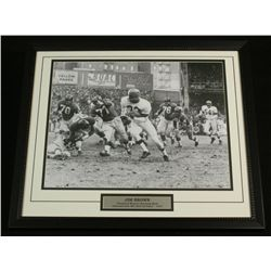Jim Brown 22x26 Custom Framed Display