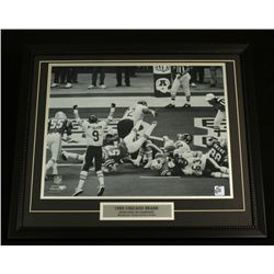 1985 Chicago Bears Super Bowl XX 22x26 Custom Framed Display