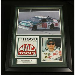Dale Earnhardt Jr. Signed 25x31 Custom Framed Piece With Race-Used Sheet Metal (PSA COA)