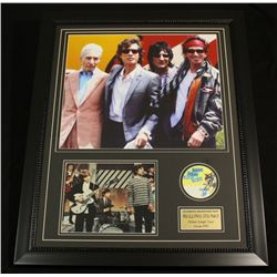 Rolling Stones 25x31 Custom Framed Piece With Authentic Backstage Passes