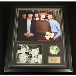 Rolling Stones 25x31 Custom Framed Piece With Charlie Watts Signed Photo (JSA COA)