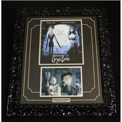 Johnny Depp Signed Corpse Bride 25x29 Custom Framed Display (PSA COA)