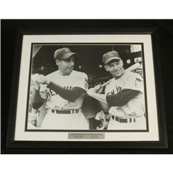 Joe DiMaggio & Mickey Mantle Yankees 22x26 Custom Framed Display
