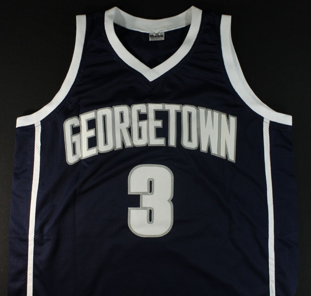 new product 21bb6 71301 authentic allen iverson georgetown jersey
