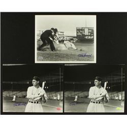 Lot of (3) Tommy Henrich Signed Yankees 8x10 Photos (SOP COA)