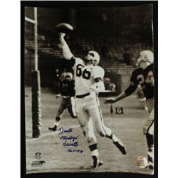 "Dante Lavelli Signed Browns 11x14 Photo: Inscribed ""Gluefingers"" & ""HOF 1975"" (PA LOA)"