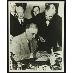 Franklin D Roosevelt 11x14 Photo from The Library of Congress Archives