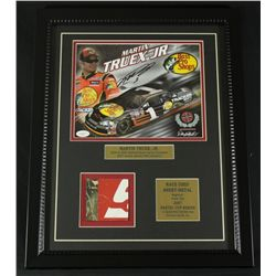 Martin Truex Jr. Signed 16x20 Custom Framed Piece With Race-Used Sheet Metal (JSA COA)