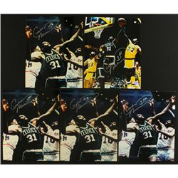 Lot of (5) Cedric Maxwell Signed Celtics 8x10 Photos (SOP COA)