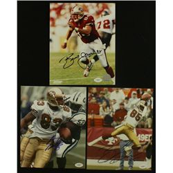Lot of (3) 49ers Signed 8x10 Photos With Lloyd, Battle & Jones (JSA COA)
