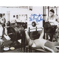"""Superstar"" Billy Graham Signed 8x10 Photo with Arnold Schwarzenegger (SOP COA)"