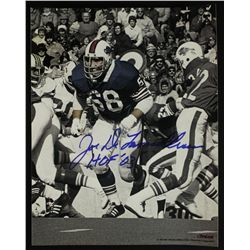 "Joe DeLamielleure Signed Bills 11x14 Photo: Inscribed ""HOF 03"" (PA LOA)"