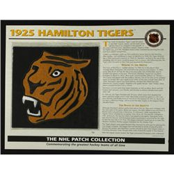 1925 Hamilton Tigers 13x10 NHL Collection Commemorative Patch Display