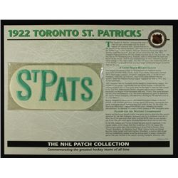 1925 Toronto St. Patricks 13x10 NHL Collection Commemorative Patch Display