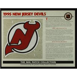 1995 New Jersey Devils 13x10 NHL Collection Commemorative Patch Display