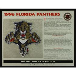 1996 Florida Panthers 13x10 NHL Collection Commemorative Patch Display