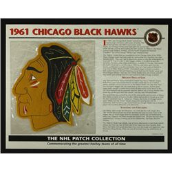 1961 Chicago Black Hawks 13x10 NHL Collection Commemorative Patch Display