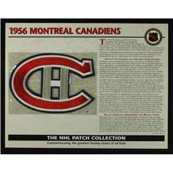 1956 Montreal Canadiens 13x10 NHL Collection Commemorative Patch Display