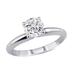 0.35 ct Round cut Diamond Solitaire Ring, G-H, I