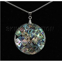 Natural 51.00ctw Mother Of Pearl Silver Pendant