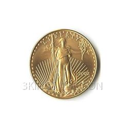 One-Tenth Ounce 2002 US American Gold Eagle Uncirculate