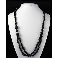 Chunky 433.46ctw Black Onyx Beads Necklace