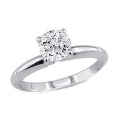 0.60 ct Round cut Diamond Solitaire Ring, G-H, I