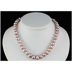 244.13ctw Philippines 10-11mm Freshwater Pearl Necklace