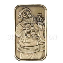 Christmas 2009 Bronze Bar X-1 Santa (with ornament hold