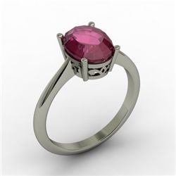 Ruby 2.20 ctw Ring 14kt White Gold