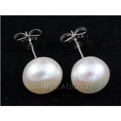 17.01CTW WHITE RICE PEARL EARRING PHILIPPINES