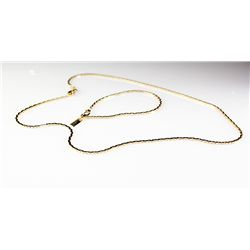18K Sterling Necklace Bracelet Set