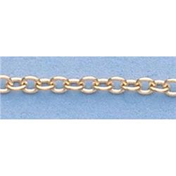 "Pure Gold 16"" 14k Gold-Yellow 1.1mm D/C Circle Chain"