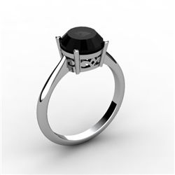 Black Diamond 2.00 ctw Ring 14kt White Gold