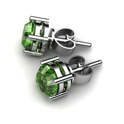 Tourmaline 0.90ctw Earring 14kt White Gold