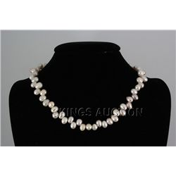 "256.76CTW 18"" WHITE-PEACH FRESHWATER PEARL NECKLACE MET"