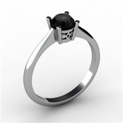 Black Diamond 0.50 ctw Ring 14kt White Gold