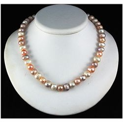 248.57ctw Philippines 9-10mm Freshwater Pearl Necklace