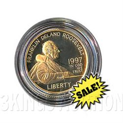 Gold $5 Commemorative 1997 FDR Proof
