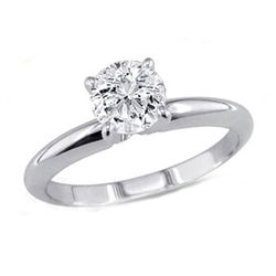 0.50 ct Round cut Diamond Solitaire Ring, G-H, VS