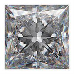 EGL CERTIFIED Princess 2.50 Carat D,SI2