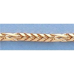 """Pure Gold 16"""" 14k Gold-Yellow 2mm Figaro Franco Chain"""