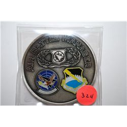 325th Air Control Squadron & 325th Fighter Wing Air Battle Manager Military Challenge Medal; EST. $3