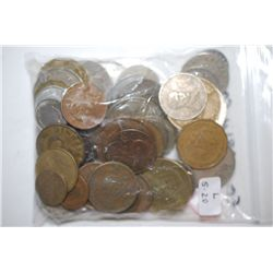 World Coins & Tokens; Various Dates, Conditions & Denominations; Lot of 50; EST. $5-20