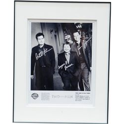 "Signed ""TWO and a half MEN"" Black & White Publicity Pho"