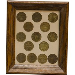 Lot Of 14 Different Brothel Embossed Task Tokens
