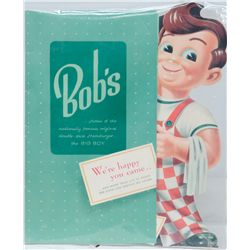 Original Bob's Big Boy Full-Size Cardboard Menu