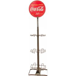 Vintage Metal Coca Cola Store Floor 6-Pack Bottles