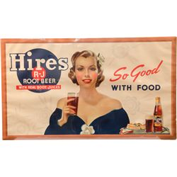 Large Original Hires R-J Root Beer Lithograph Paper Adv