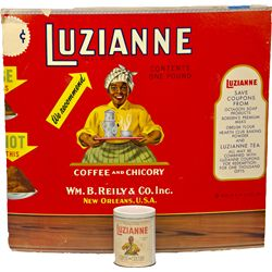 Lot Of 2 Vintage LUZIANNE Coffee And Chicory Items: